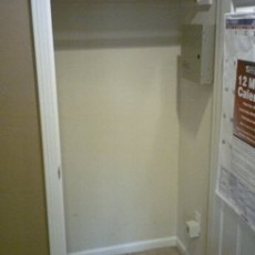 Closet Before Shelving