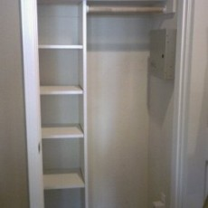 closet after shelving